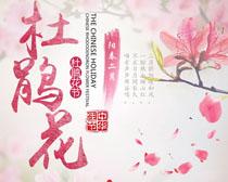 中华传统杜鹃花节PSD素材