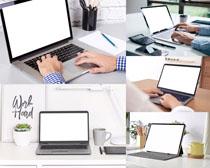 商务平板电脑办公摄影高清图片