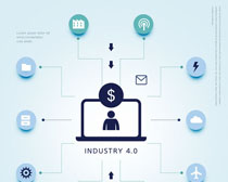 图标金融商务PSD素材