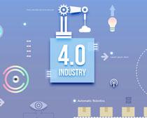 4.0科技数码背景PSD素材