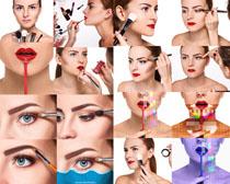 化妆的欧美女子拍摄高清图片