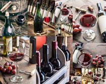 欧美红葡萄酒展示摄影高清图片