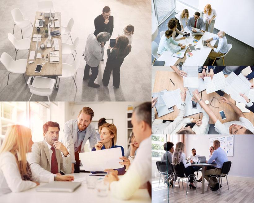 办公室讨论人士摄影高清图片