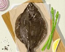海鱼与食材PSD素材