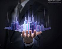 商务手金融科技PSD素材