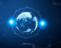地球科技背景PSD素材