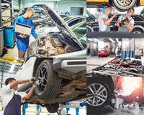 汽車維修檢查攝影高清圖片