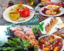 国外美食中餐摄影高清图片