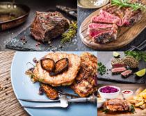 烤牛排美食摄影高清图片