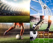踢足球運動攝影高清圖片