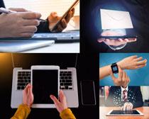 平板电子手表数码办公拍摄高清图片