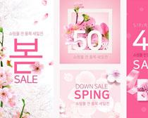 春季花朵广告海报PSD素材