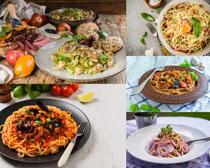 粉条与调料食物摄影高清图片