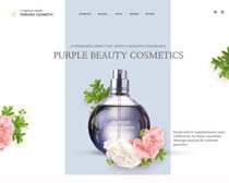 香水时光网页模板PSD素材