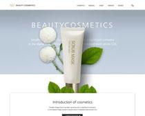 化妆产品首页模板PSD素材