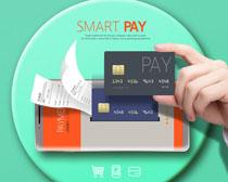 银行卡手机技术支付PSD素材