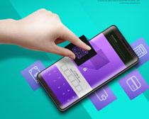 手机购物支付PSD素材