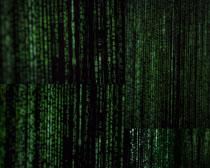電腦藍屏字母攝影高清圖片