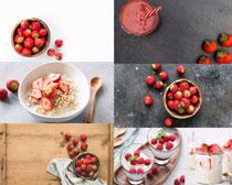 新鮮草莓派拍攝高清圖片