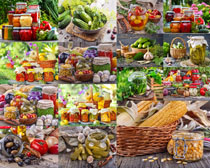蔬菜罐头食物摄影高清图片