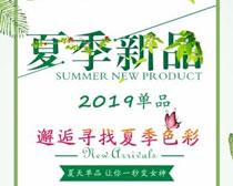 夏季新品海报矢量素材