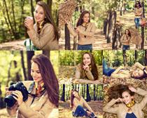 秋天歐美姑娘攝影高清圖片