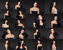 乌黑亮发美女拍摄高清图片