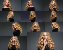 欧美卷发时尚美女拍摄高清图片