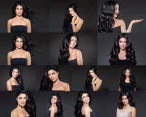 欧美黑发时尚美女拍摄高清图片