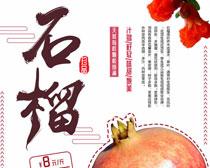 石榴新鲜水果海报PSD素材
