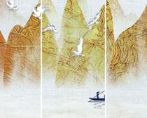 小溪风景绘画PSD素材
