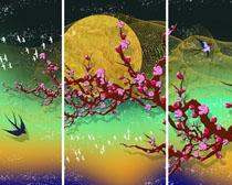 梅花与燕子装饰画时时彩投注平台