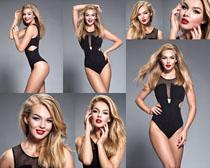 性感金发女子写真拍摄高清图片