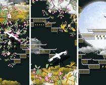 中國風藝術裝飾畫PSD素材