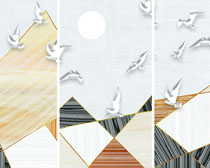 和平鸽艺术装饰画PSD素材