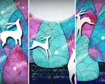 艺术小鹿绘画PSD素材