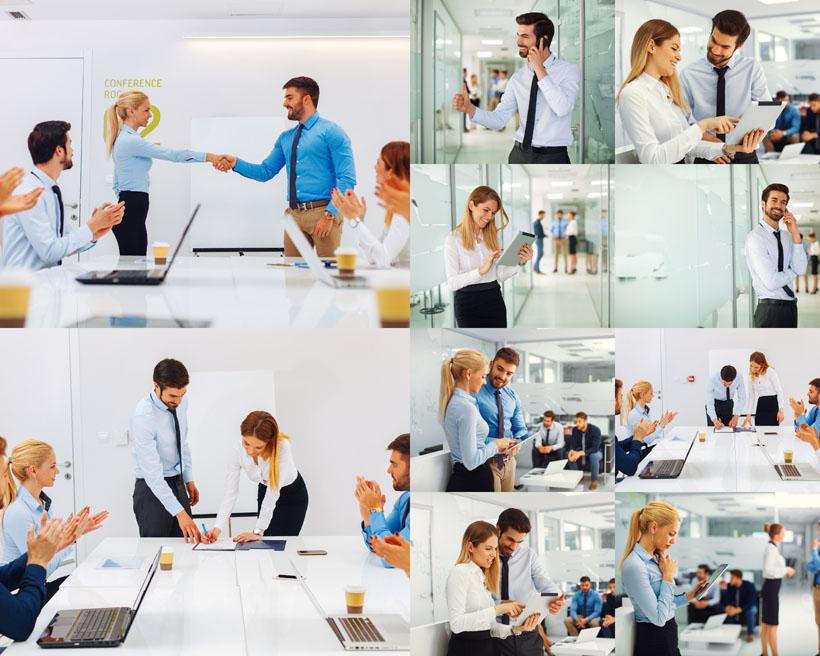 办公会议商务人士拍摄高清图片