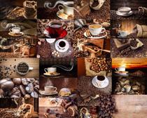 咖啡果与咖啡拍摄高清图片