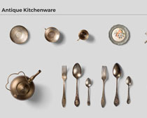 勺子壶餐具PSD素材
