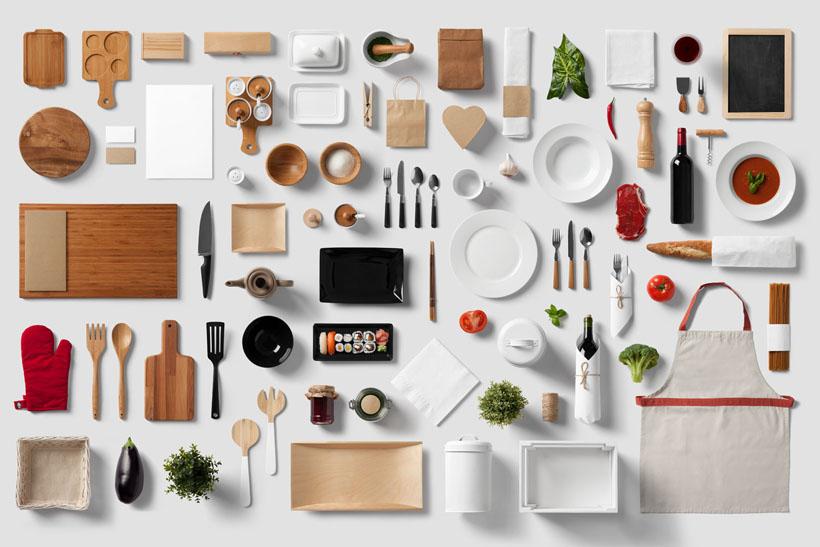 餐具展示效果PSD素材
