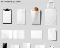 纸张与袋子PSD素材