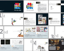 作品展示設計集畫冊PSD素材