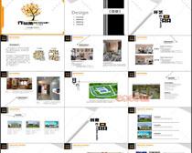 創意作品集畫冊PSD模板