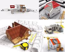 3D模型房屋設計圖攝影高清圖片