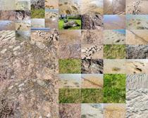 海邊沙石石頭攝影高清圖片