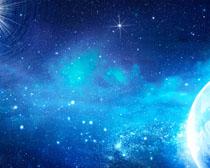 地球与星空PSD素材