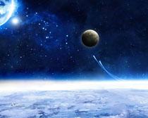 木星地球星空�PSD素材