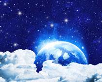 地球星空『背景PSD素材