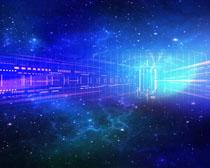 科技空星背景PSD素材