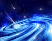 宇宙蓝色星空PSD素材